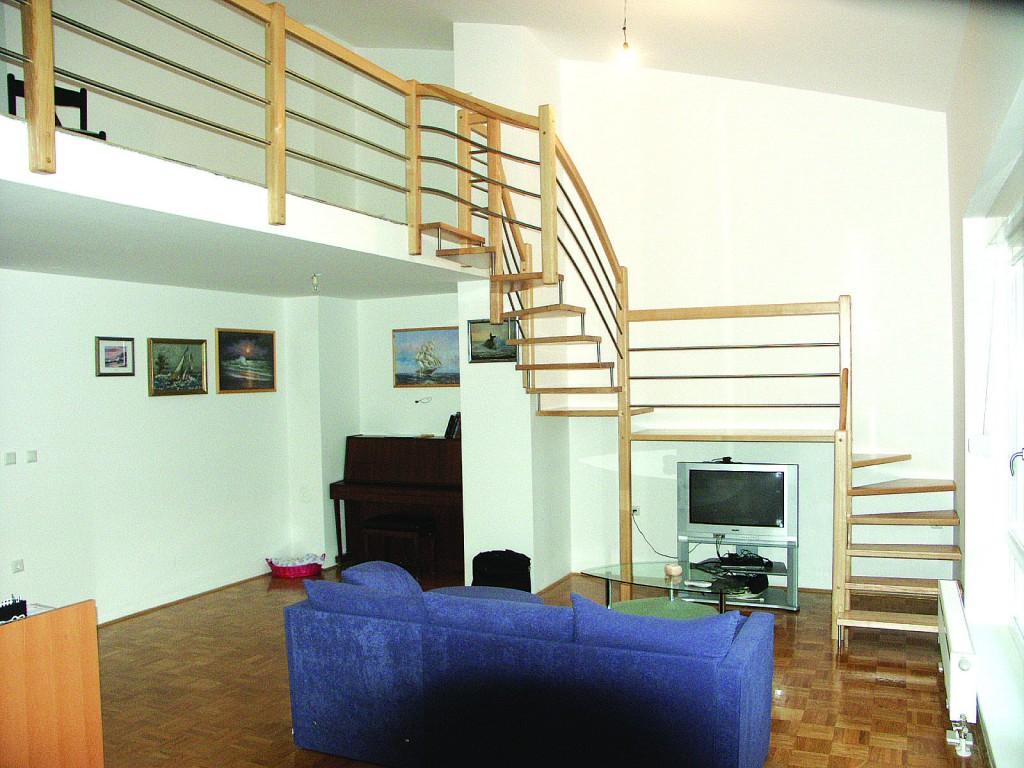 Lesene stopnice na meji mogočega